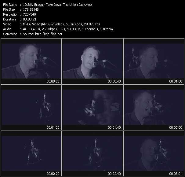 Billy Bragg video screenshot