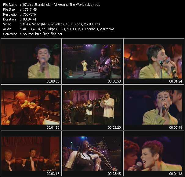 video All Around The World (Live) screen