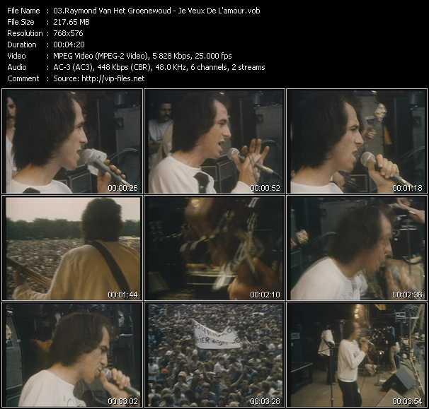 Raymond Van Het Groenewoud video screenshot