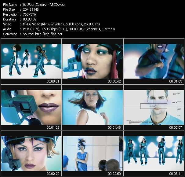 Four Colourz video screenshot