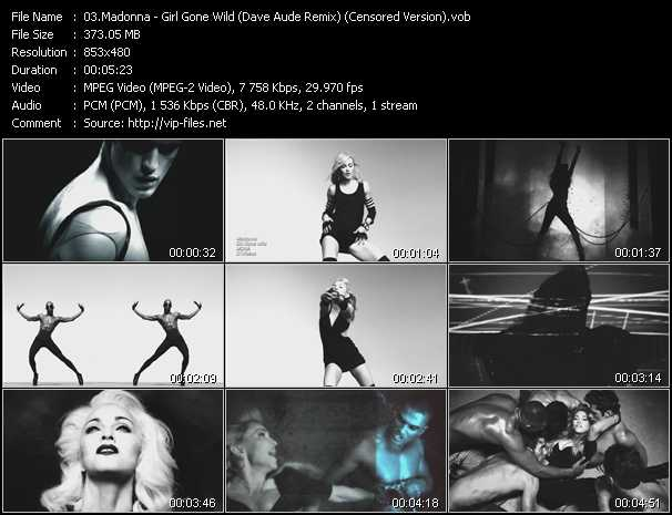 video Girl Gone Wild (Dave Aude Remix) (Censored Version) screen
