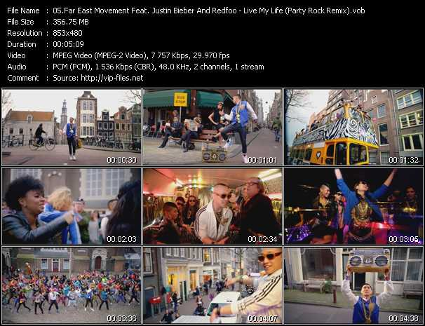 Far East Movement Feat. Justin Bieber And Redfoo video screenshot