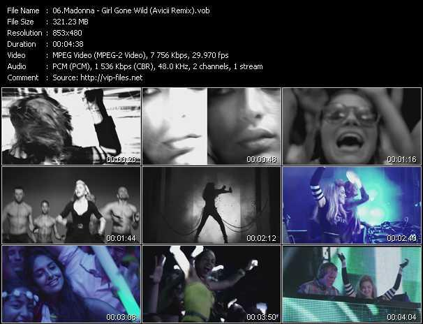 video Girl Gone Wild (Avicii Remix) screen