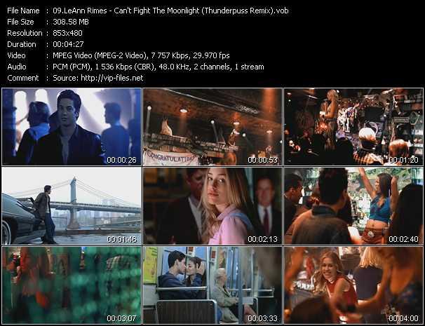 video Can't Fight The Moonlight (Thunderpuss Remix) screen