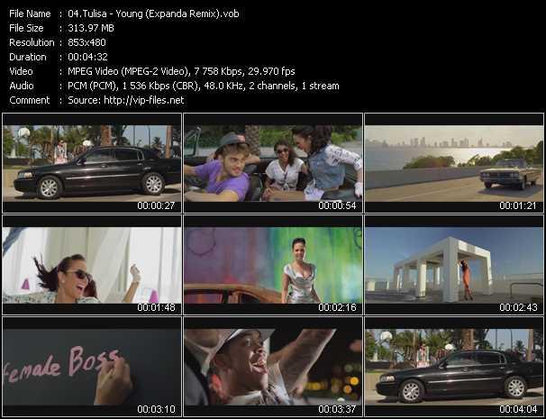 Tulisa video screenshot