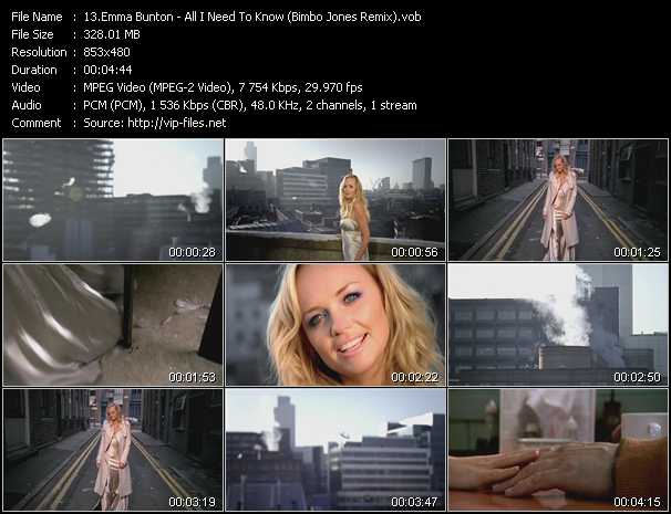 Emma Bunton video screenshot