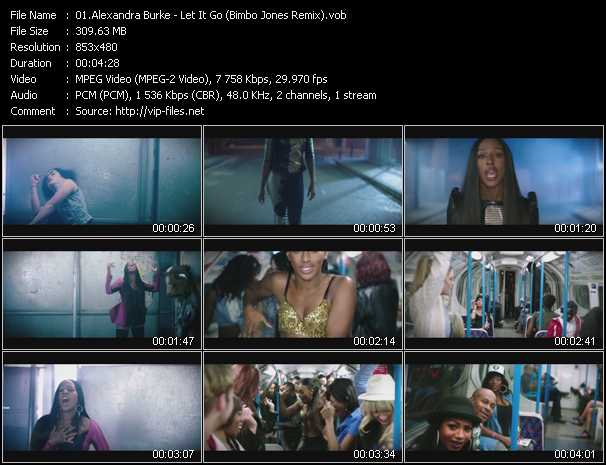 Alexandra Burke video screenshot