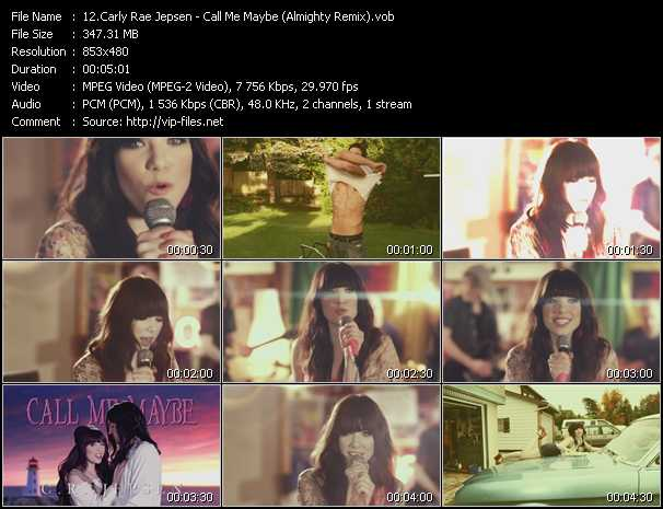 Carly Rae Jepsen video screenshot