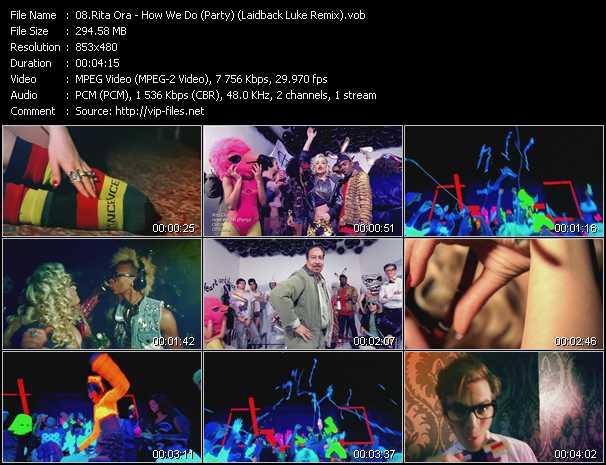 Rita Ora video screenshot