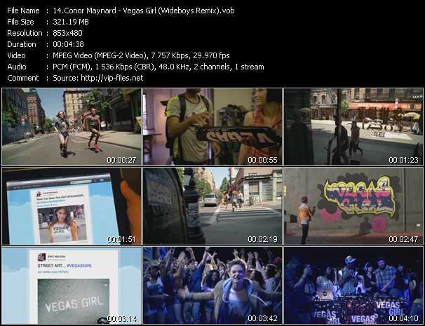 Conor Maynard video screenshot