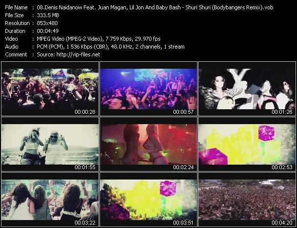 Denis Naidanow Feat. Juan Magan, Lil' Jon And Baby Bash video screenshot
