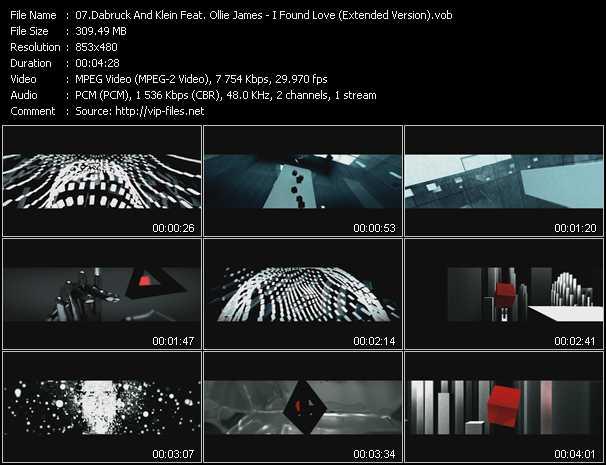 Dabruck And Klein Feat. Ollie James video screenshot