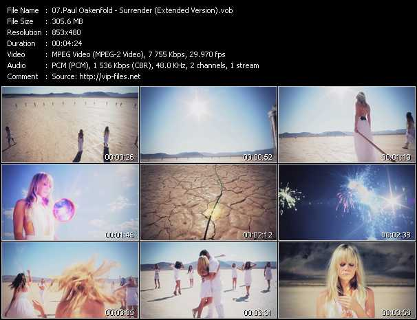 Paul Oakenfold video screenshot