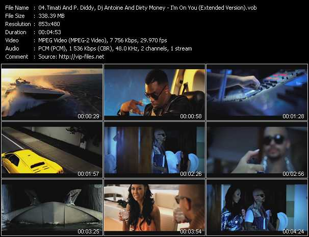 Timati And P. Diddy (Puff Daddy), Dj Antoine And Diddy - Dirty Money video screenshot