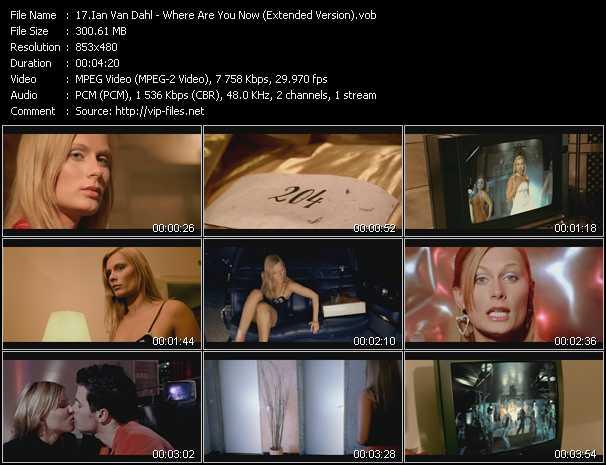 Ian Van Dahl video screenshot