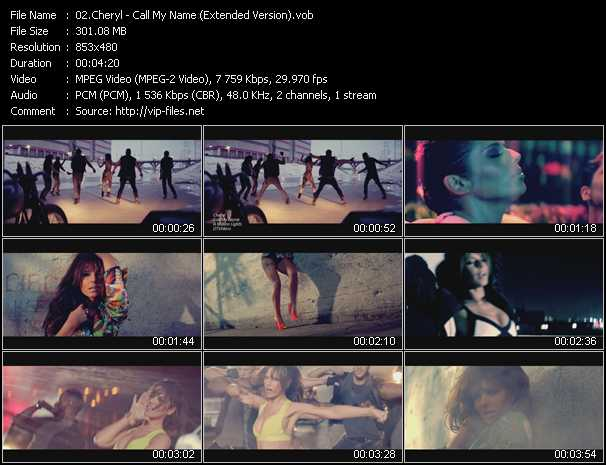 Cheryl video screenshot