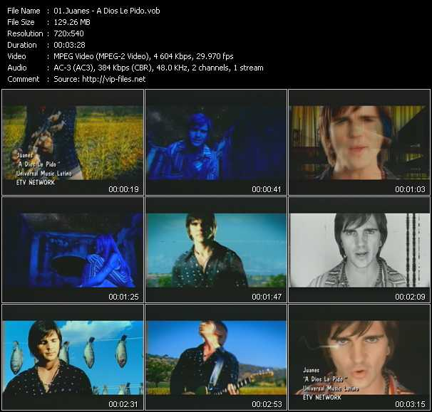 Juanes video screenshot