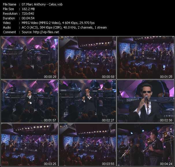Marc Anthony video screenshot
