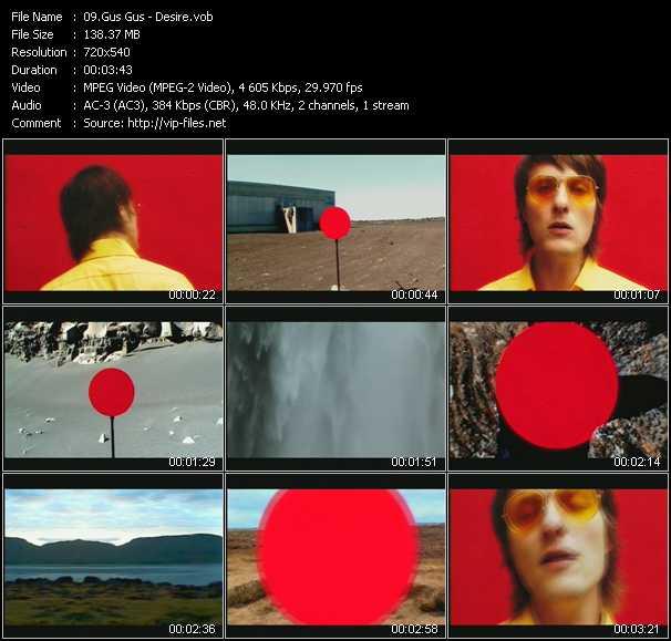Gus Gus video screenshot