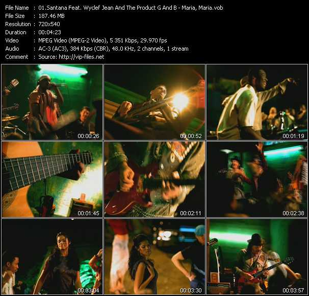 Santana Feat. Wyclef Jean And The Product G And B video screenshot