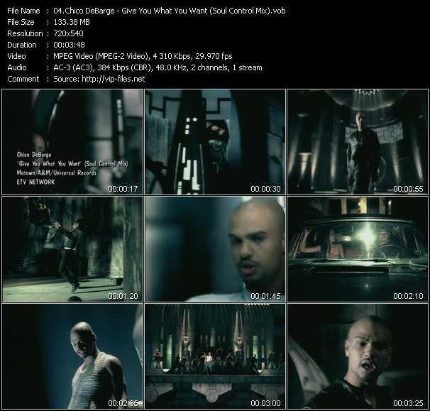 Chico DeBarge video screenshot