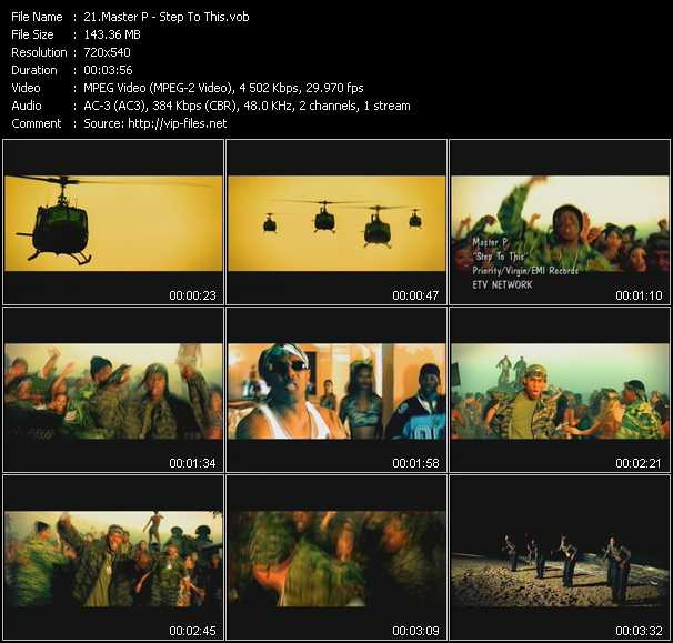Master P video screenshot