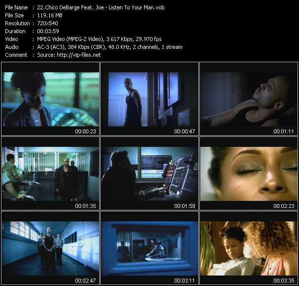 Chico DeBarge Feat. Joe video screenshot