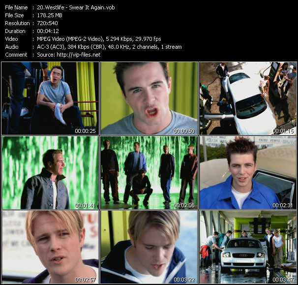 Westlife video screenshot
