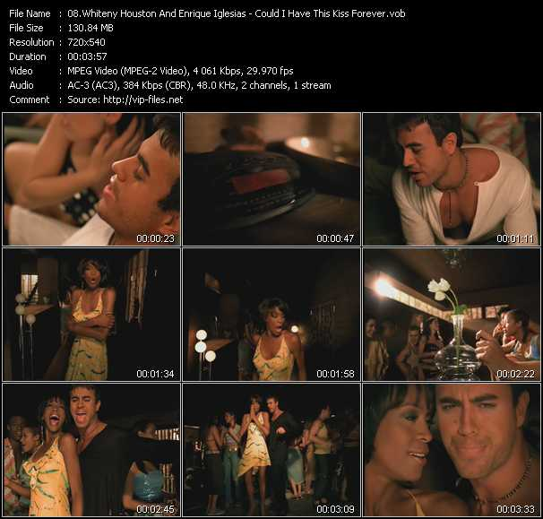 Whiteny Houston And Enrique Iglesias video screenshot