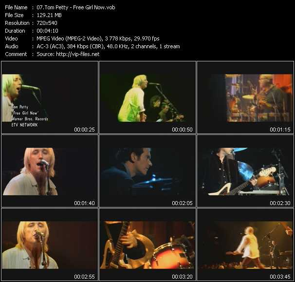 Tom Petty video screenshot