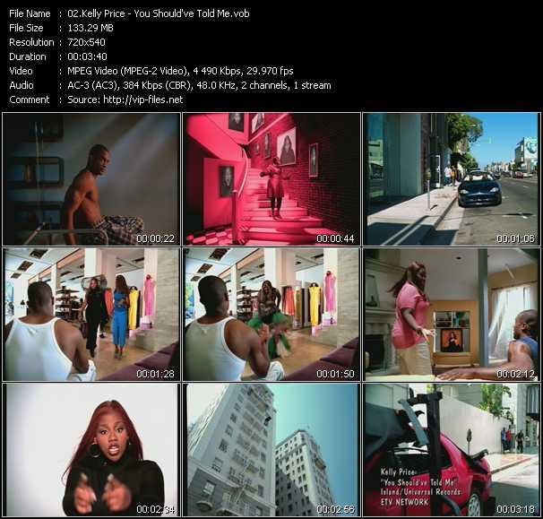 Kelly Price video screenshot