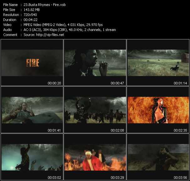 video Fire screen