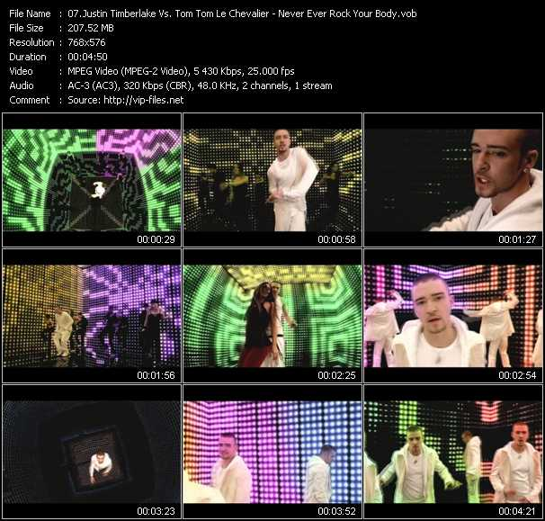 video Never Ever Rock Your Body (Ben Double M Mashup Mix) screen
