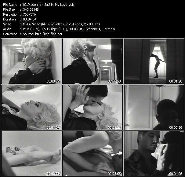 video Justify My Love screen