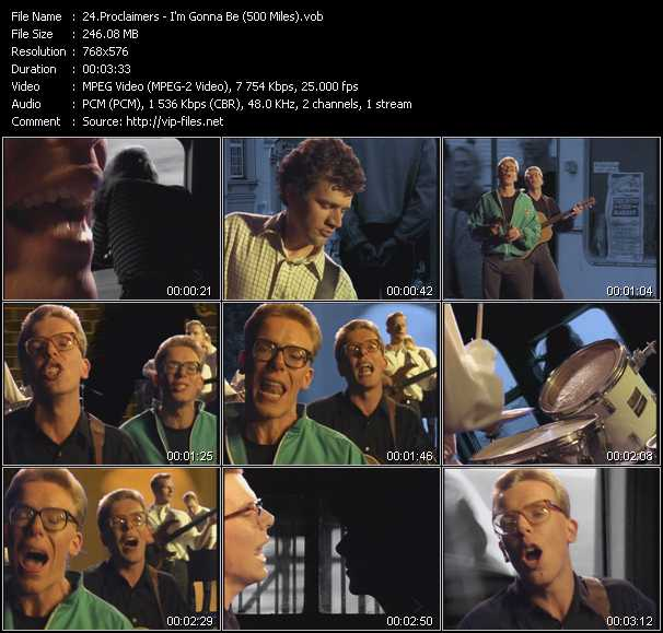 Proclaimers video screenshot