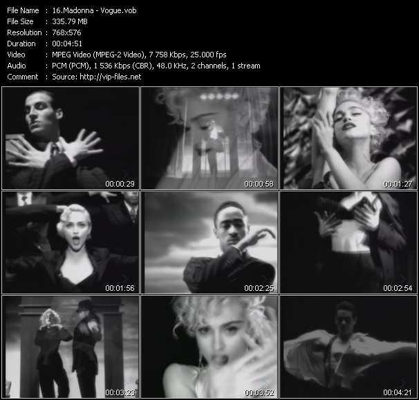 video Vogue screen