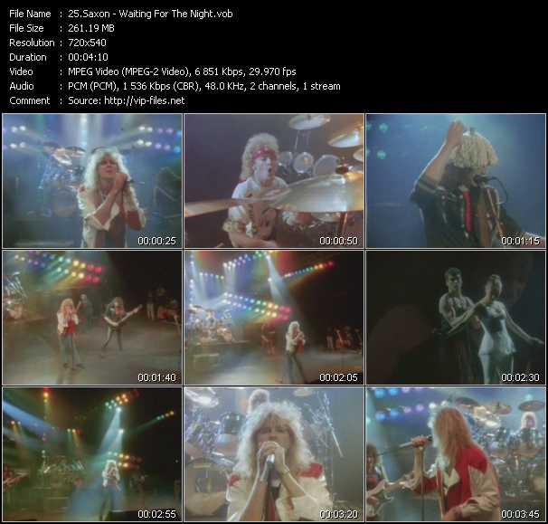 Saxon video screenshot