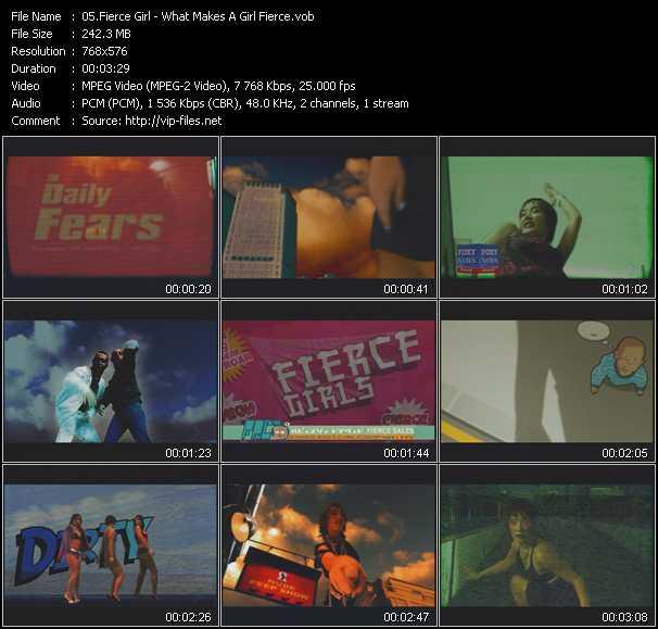Fierce Girl video screenshot
