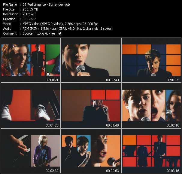 Performance video screenshot