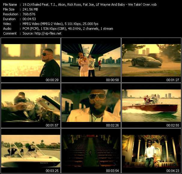 Dj Khaled Feat. T.I., Akon, Rick Ross, Fat Joe, Lil' Wayne And Baby video screenshot