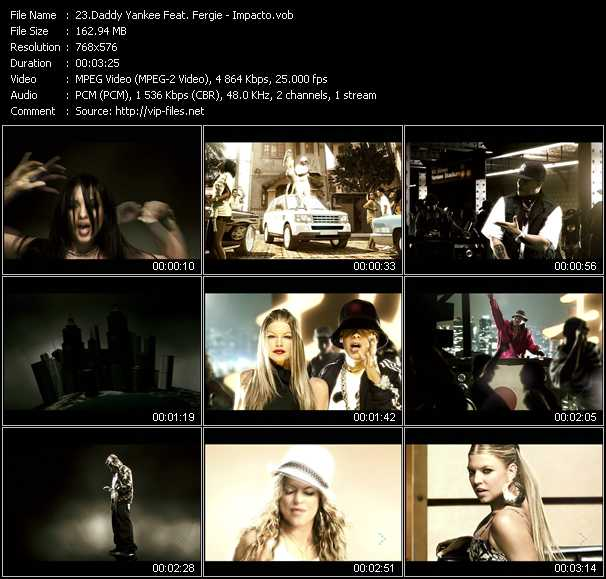 Daddy Yankee Feat. Fergie video screenshot