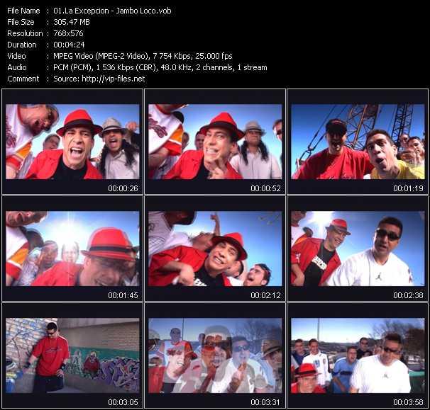La Excepcion video screenshot