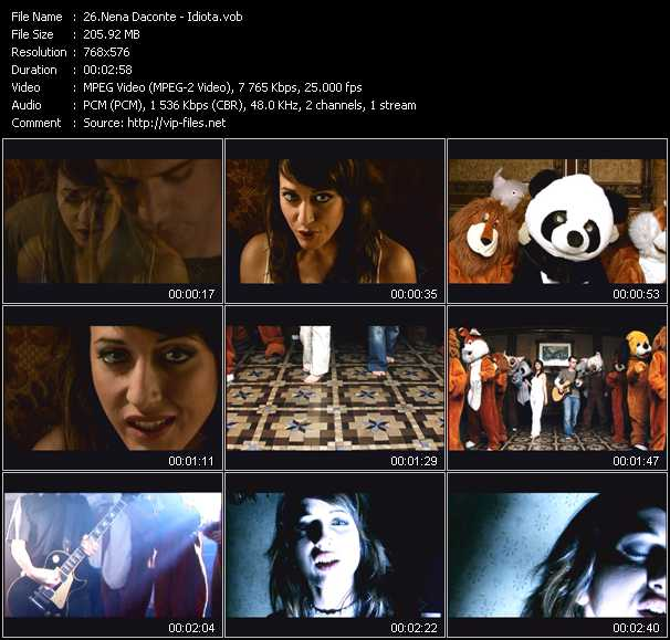 Nena Daconte video screenshot