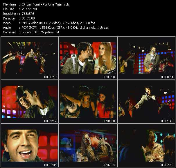 Luis Fonsi video screenshot