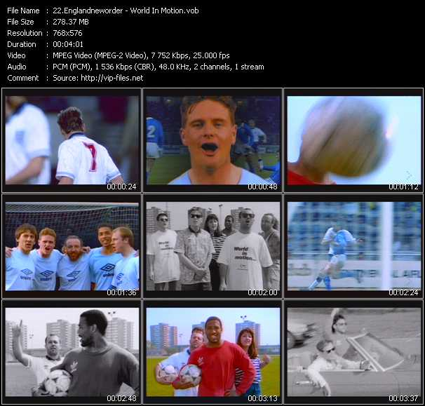 England And New Order video screenshot