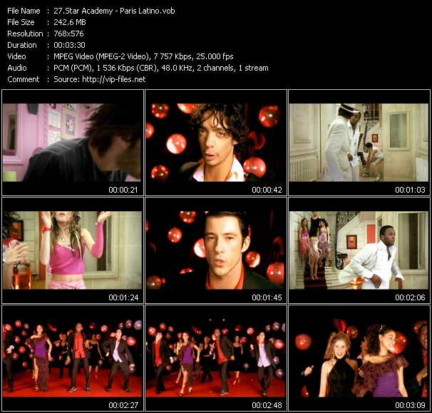 Star Academy video screenshot
