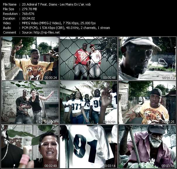 Admiral T Feat. Diams video screenshot