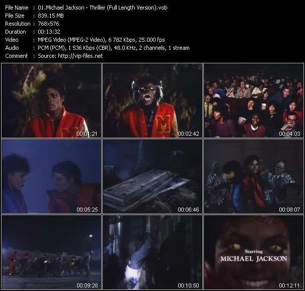 video Thriller (Full Length Version) screen