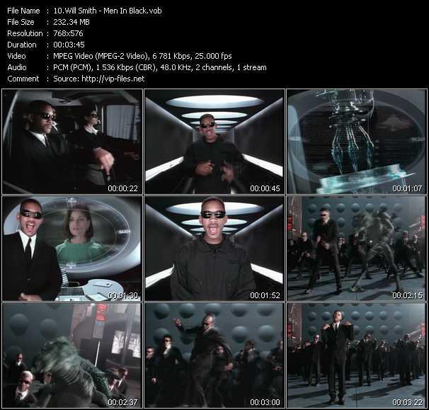 video Men In Black screen