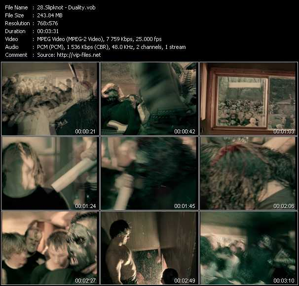 Slipknot video screenshot